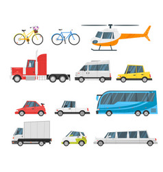 set of city transport vector image