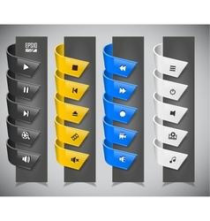 set of plastic ribbons vector image