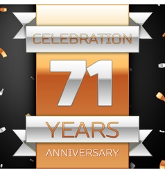 Seventy one years anniversary celebration golden vector