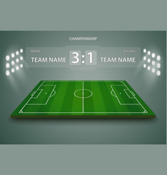 soccer field european football stadium court for vector image