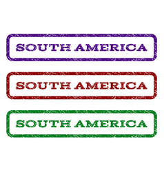 South america watermark stamp vector