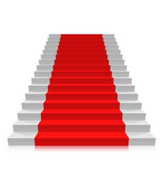 stair carpet on a white background vector image