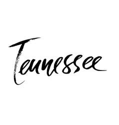 Tennessee modern dry brush lettering retro vector