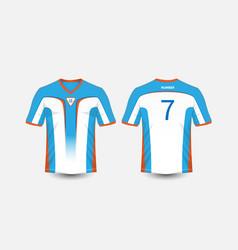 White blue and orange pattern sport football vector