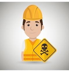 worker symbol danger vector image