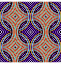 Geometric Retro Seamless Pattern vector image vector image