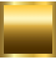 Gold texture square golden frame vector image vector image