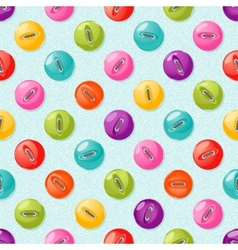 Seamless pattern with cute colorful buttons vector image