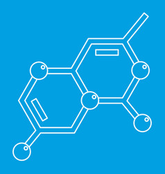 chemistry icon outline style vector image vector image