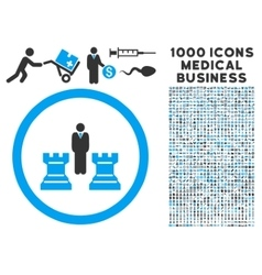 Chess Strategy Rounded Icon With Medical Bonus vector image
