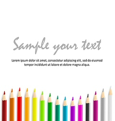 Concept idea with colorful pencils as bottom waved vector image vector image