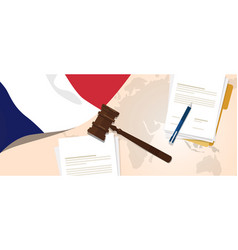 france law constitution legal judgment justice vector image vector image