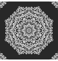 lace doily mandala round ornament vector image vector image