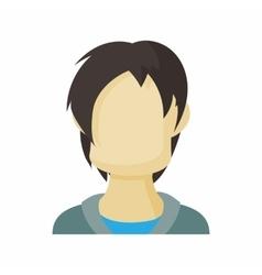 Avatar men teenager icon cartoon style vector image vector image