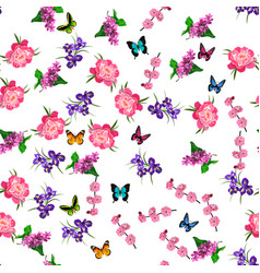 blooming lilac flower vector image vector image