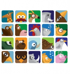 animal icon pack vector image