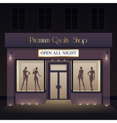 Beauty Store Front View Template vector image