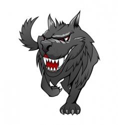 danger wolf vector image