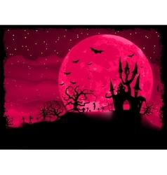 halloween zombie poster vector image vector image