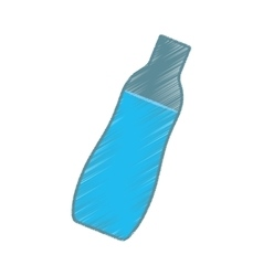 hand colored drawing bottle water icon vector image vector image