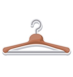 hook for hanging clothes vector image