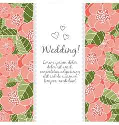 Wedding card with floral elements vector image vector image
