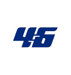 46 logo sports blue vector image