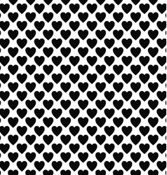 Abstract black white heart pattern design vector image