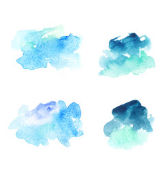 Abstract blue watercolor stains vector