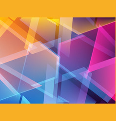 Abstract colorful triangle geometric background vector
