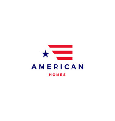 american flag house home mortgage logo icon vector image