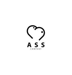 Ass symbol logo design icon vector