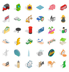 Auto icons set isometric style vector