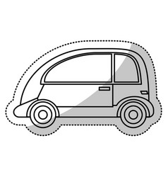 automobile vehicle transport cut line vector image