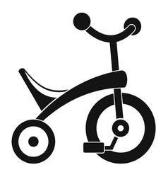 baby tricycle icon simple style vector image