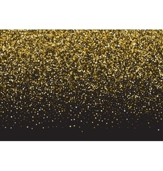 Background with gold glitter vector
