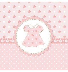 Bagirl shower with dress vector
