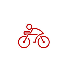 bike logo icon design vector image