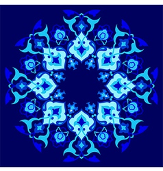 Blue artistic ottoman pattern series sixty one vector