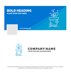 blue business logo template for dollar growth pot vector image