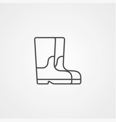 Boot icon sign symbol vector