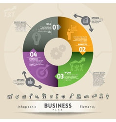 Business Plan Concept Graphic Element vector image