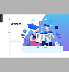 Business series - articles web template vector