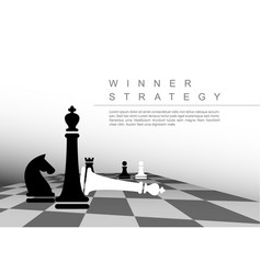 Business winner strategy concept template vector