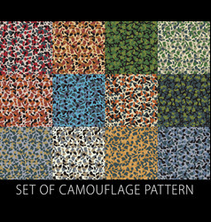 Camouflage netting seamless pattern forest vector