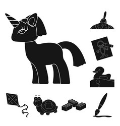 Children toy black icons in set collection for vector