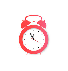 clock alarm retro clock icon in flat style vector image
