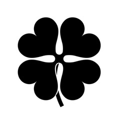 clover black silhouette vector image