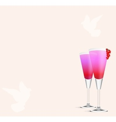 Cocktail Romance vector image