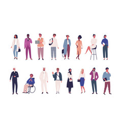 collection business people entrepreneurs or vector image